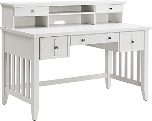 Crosley Furniture Adler Computer Desk with Hutch – White