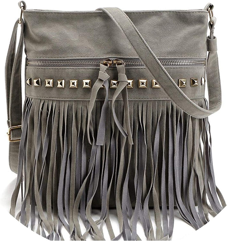 Rivet Tassel Women Bags...