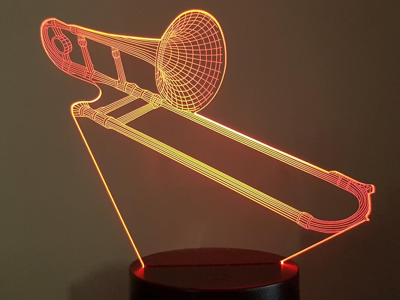 Lampe 3D Motif: Trombone