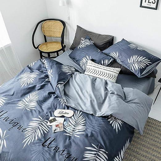 WPQBS Sábana,sábanas de algodón de algodón de Cuatro Piezas cubrecama cubrecama Individual Dormitorio Sombrero, 3,220x240cm: Amazon.es: Hogar