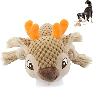 Cute Paws Christmas Dog Gift, Cotton Plush Squeaky Dog Toys, Interactive Dog Chew Toys, Stuffed Puppy Chew Toys for Teeth Cleaning, Small,Middle,Large Dogs