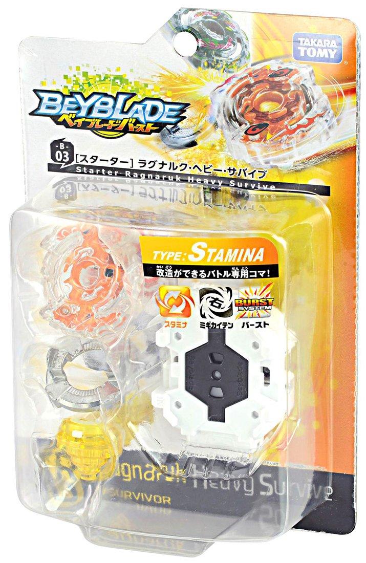Beyblade Burst B-03 Starter Ragunaruku Heavy Survive Takara Tomy