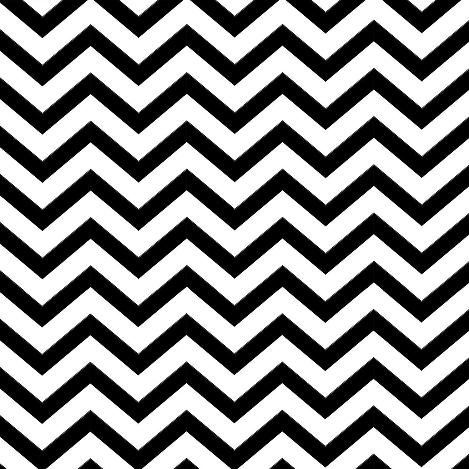 Luxton Black White Chevron Wallpaper Unpasted Pvc Wave Zigzag