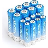 REACELL 16X Oplaadbare Batterij,8x Ni-MH Accu Mignon AA 2800mAh + 8x Oplaadbare Batterij Micro AAA 1100mAh Longlife…