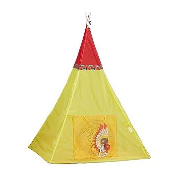 Relaxdays Tipi Spielzelt, Kinderzelt Indianer, Indianerzelt ...