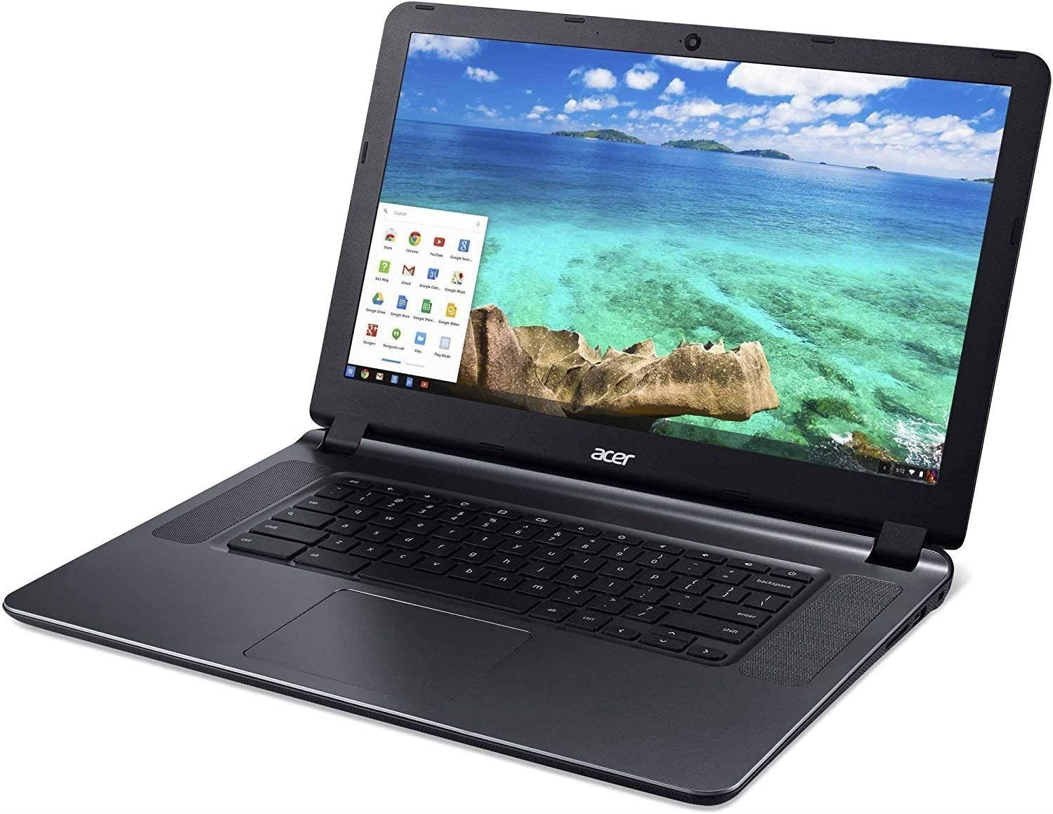 Acer CB3-532 15.6inch HD Chromebook with 3x Faster WiFi, Intel Dual-Core Celeron N3060 upto 2.48GHz, 2GB RAM, 16GB SSD,HDMI,USB 3.0, Webcam, 12-Hrs Battery, Chrome OS (Renewed)