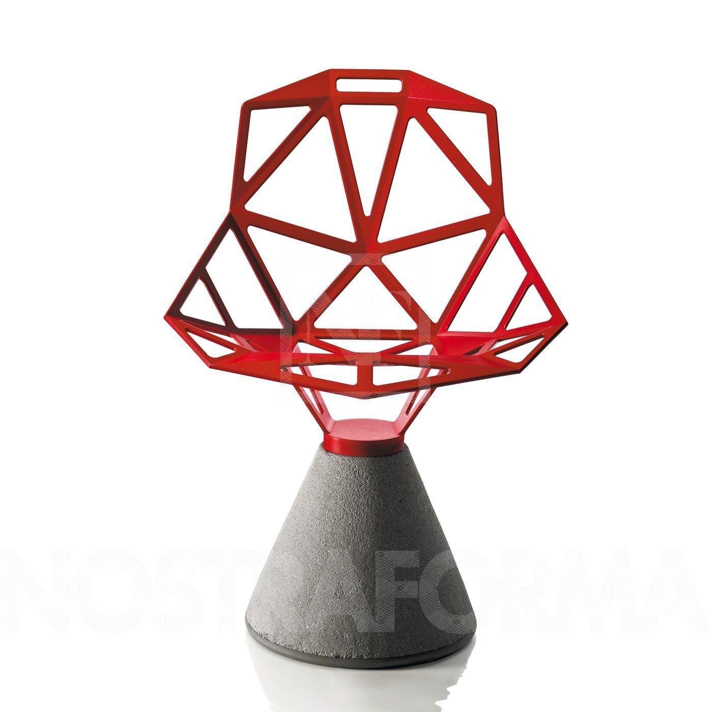 Magis Chair One Stuhl mit Zementfuß, aluminium poliert Sitz: 5,2kg Fuß: 33,5kg nur für den Innenbereich geeignet!