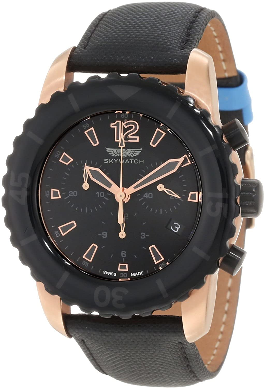 SkyWatch Chronograph Black Dial Men's Watch - CC1028