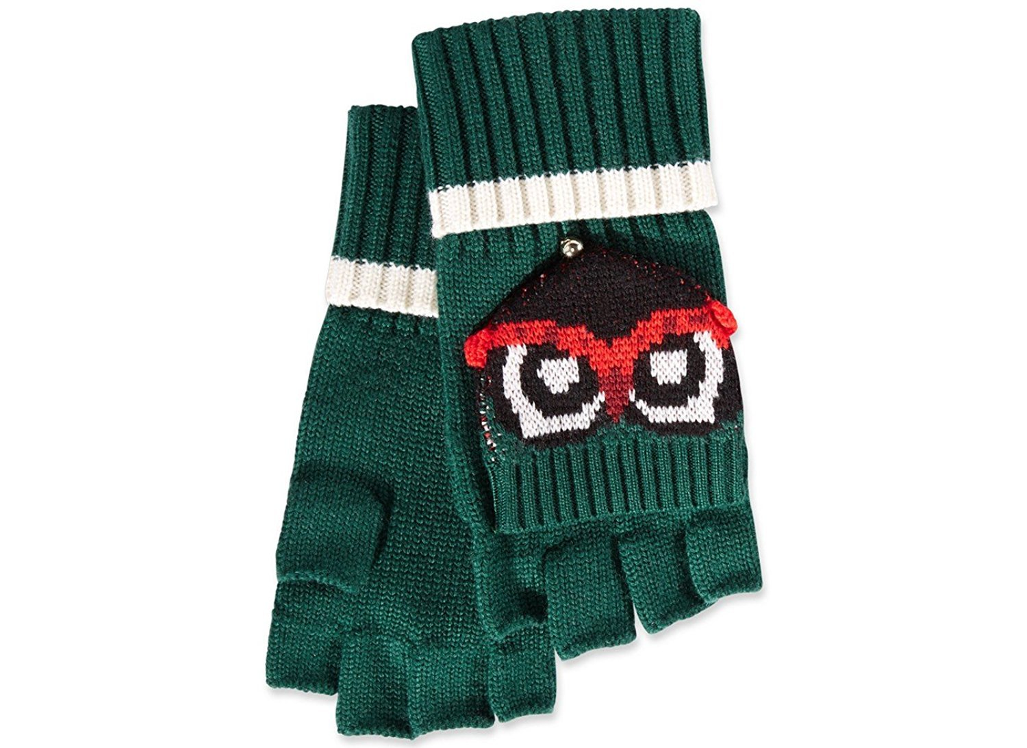 Kate Spade Owl ''Who Me'' Wool Pop Top Gloves, O/S