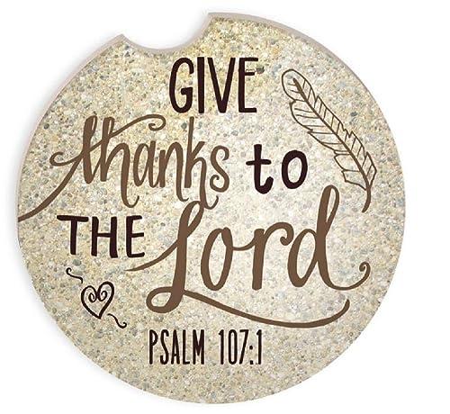 "Set de 2 Salmos 107: 1 - Salmos Auto posavasos 2 3/4 """