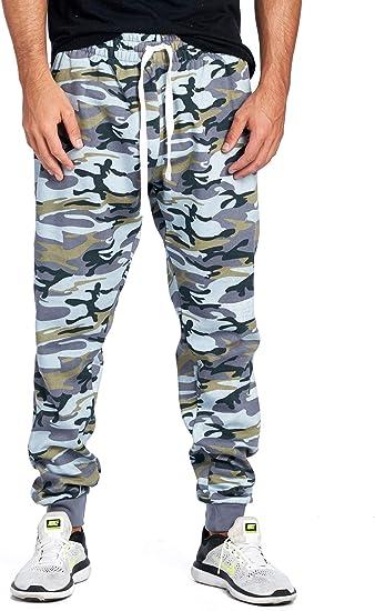 Progo Pantalones De Cha Ndal Para Hombre Estilo Informal Con Forro Polar Cintura Ela Stica Slade Camouflage Medium Amazon Com Mx Ropa Zapatos Y Accesorios
