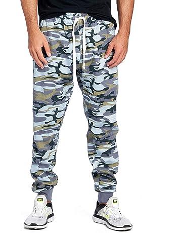 e100eb9dda8be ProGo Men's Casual Jogger Sweatpants Basic Fleece Marled Jogger Pant  Elastic Waist