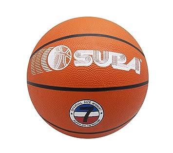 SURA Balón de Baloncesto Talla 7 Color Ladrillo Pelota Interior ...