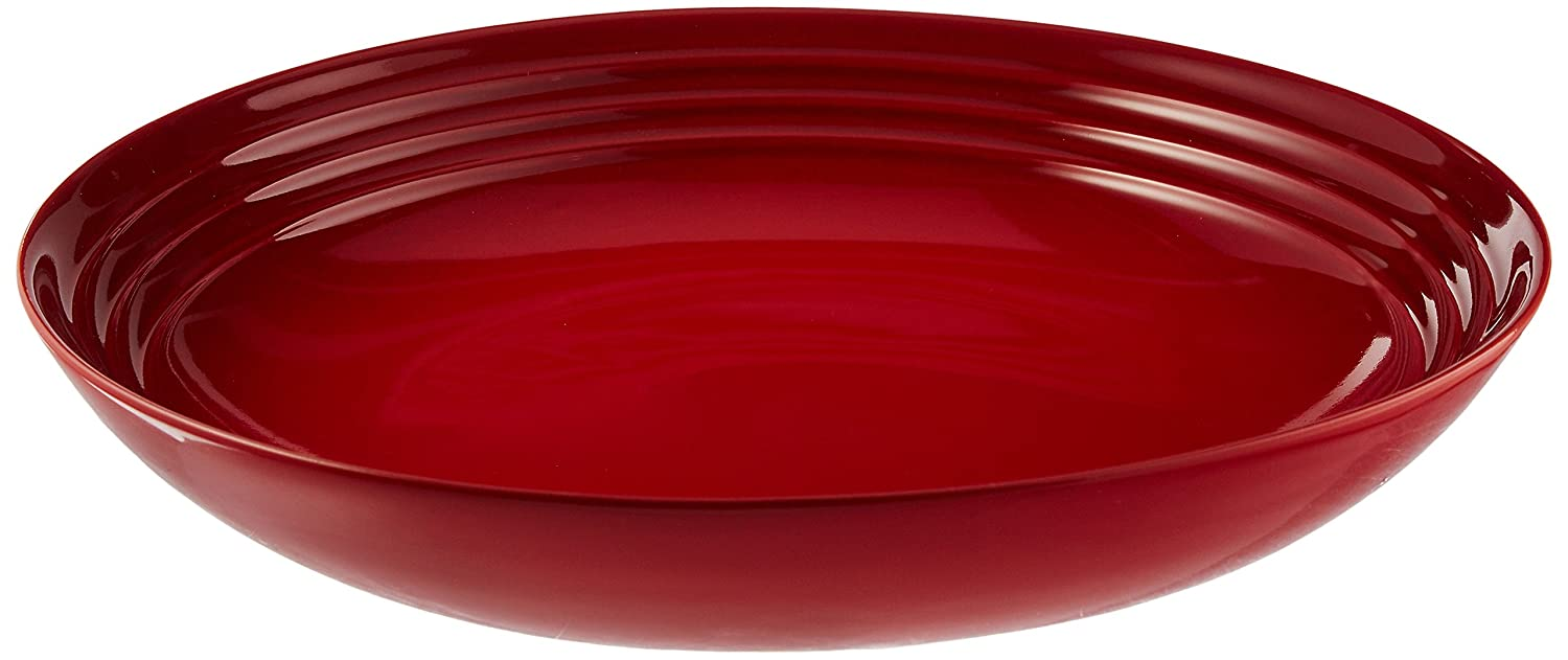Le Creuset Stoneware 9 3/4-Inch Pasta Bowl, Cerise (Cherry Red) Le Creuset of America PG9005-2567