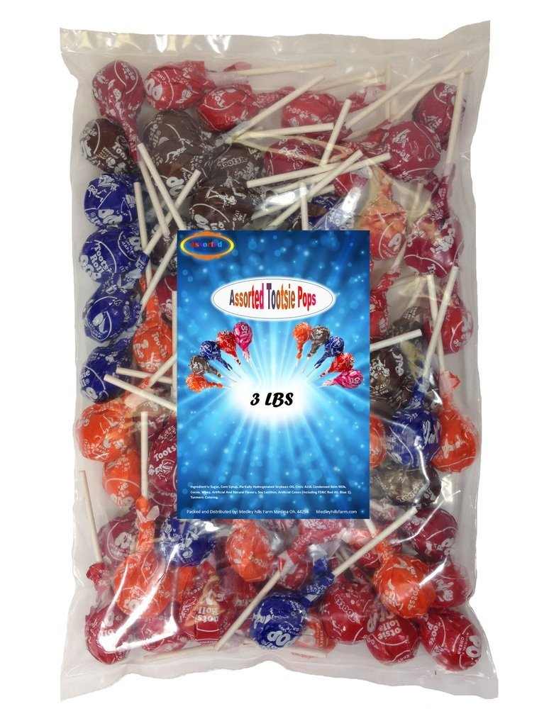 Tootsie Roll Pops Assorted 3 Lbs