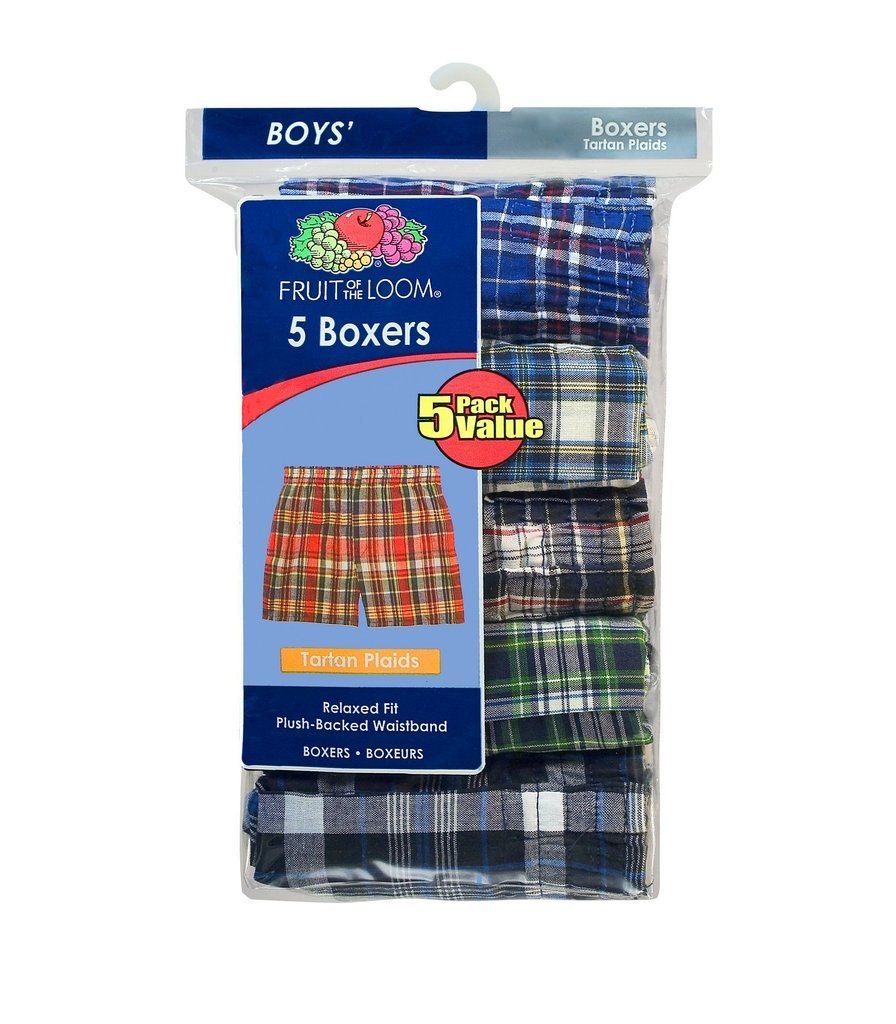 Fruit of the Loom Boys' Woven Boxer Shorts Boxers Underwear 3PB530