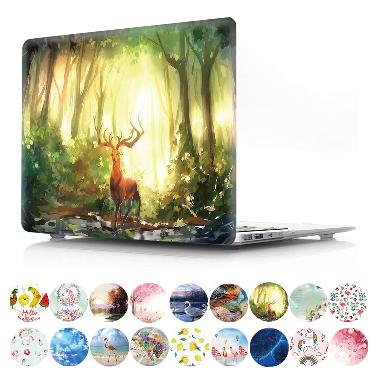 PapyHall Painting Plastic Pattern Hard Case for Old MacBook Pro 15'' with CD-ROM (2010-2012 Release, Non-Retina) Model: A1286 (DZ-Reindeer)