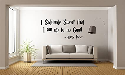 Harry Potter Wall Decal Quote   I Solemnly Swear That I Am Up To No Good