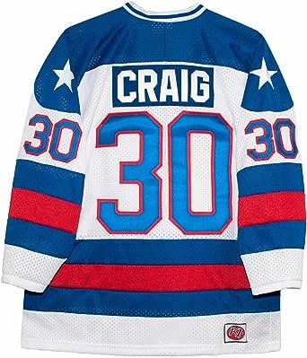 K-1 Sportswear USA Miracle on Ice 1980 Jim Craig White Hockey Jersey