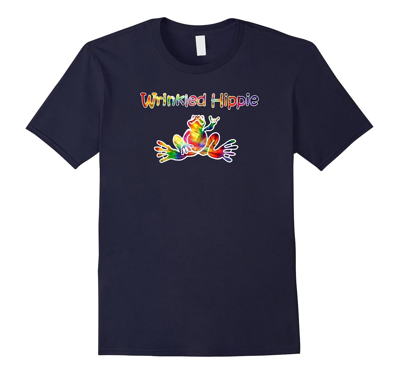 Tie Dye Frog T-Shirt Artist Wrinkled Hippie Love Tee-FL