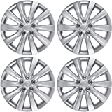 "BDK Toyota Corolla Style Hubcaps 16"" Wheel Covers - 2011, 2012, 2013 Model Replica Cover, Silver, 4 Pieces"