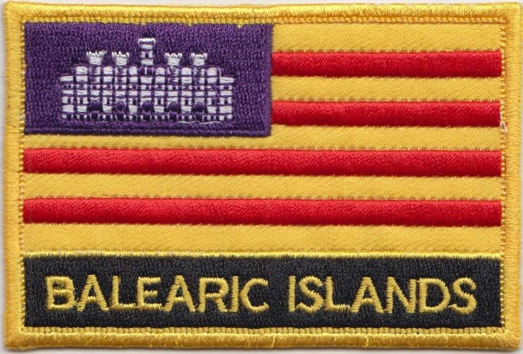 Islas Baleares España Bandera Bordada rectangular parche Badge ...