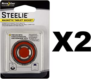 Nite Ize Steelie Magnetic Tablet Socket Replacement Kit for HobKnob (2-Pack)