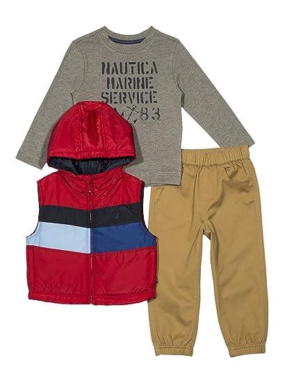 fa6808fb3 Amazon.com  Nautica Boys  Toddler Puffer Vest