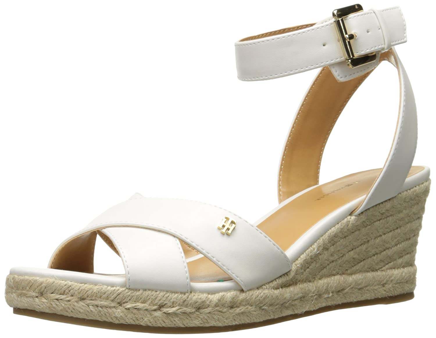 Tommy Hilfiger Women's Gorgis Wedge Sandal B01M9DODEA 5.5 B(M) US|White