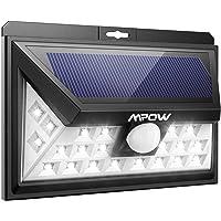 Mpow Solarleuchte 24 LED Solarlampe Weitwinkel Solar Wandleuchte Außen Solar Betriebene Außenleuchte, Wandleuchte, Energiesparend Wasserdicht 3 Modi Sicherheit Bewegungssensor für Garten, Patio