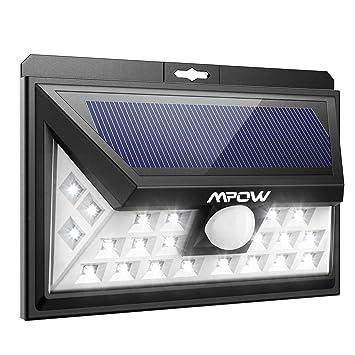 Mpow 24 Led Weitwinkel Solarleuchten Außen Solar Betriebene