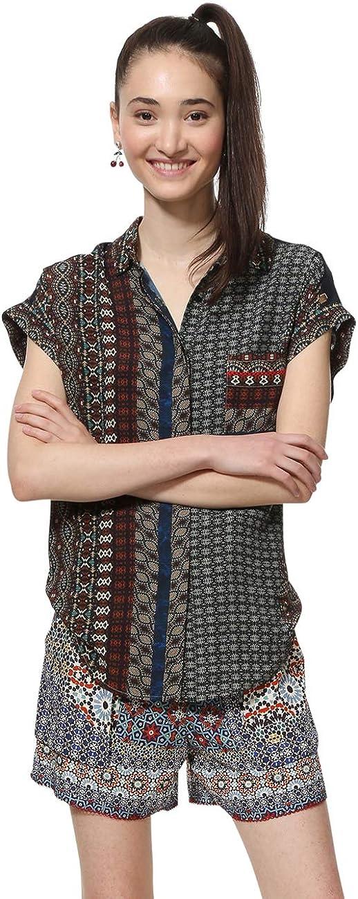 Desigual Shirt Short Sleeve Azhar Woman Brown Camisa para Mujer