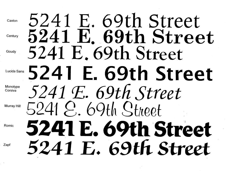 Amazon.com: Mailbox House Number Custom Vinyl Sticker, Large (Set Of 2):  Home Improvement