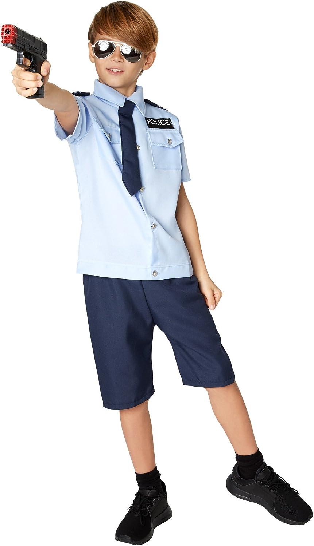 TecTake dressforfun Disfraz de Niño Policía | Camisa Muy Bonita con Pantalones Cortos | Incl. Corbata con elástico de Goma (164 | 13-14 años | No. 301496): Amazon.es: Juguetes y juegos