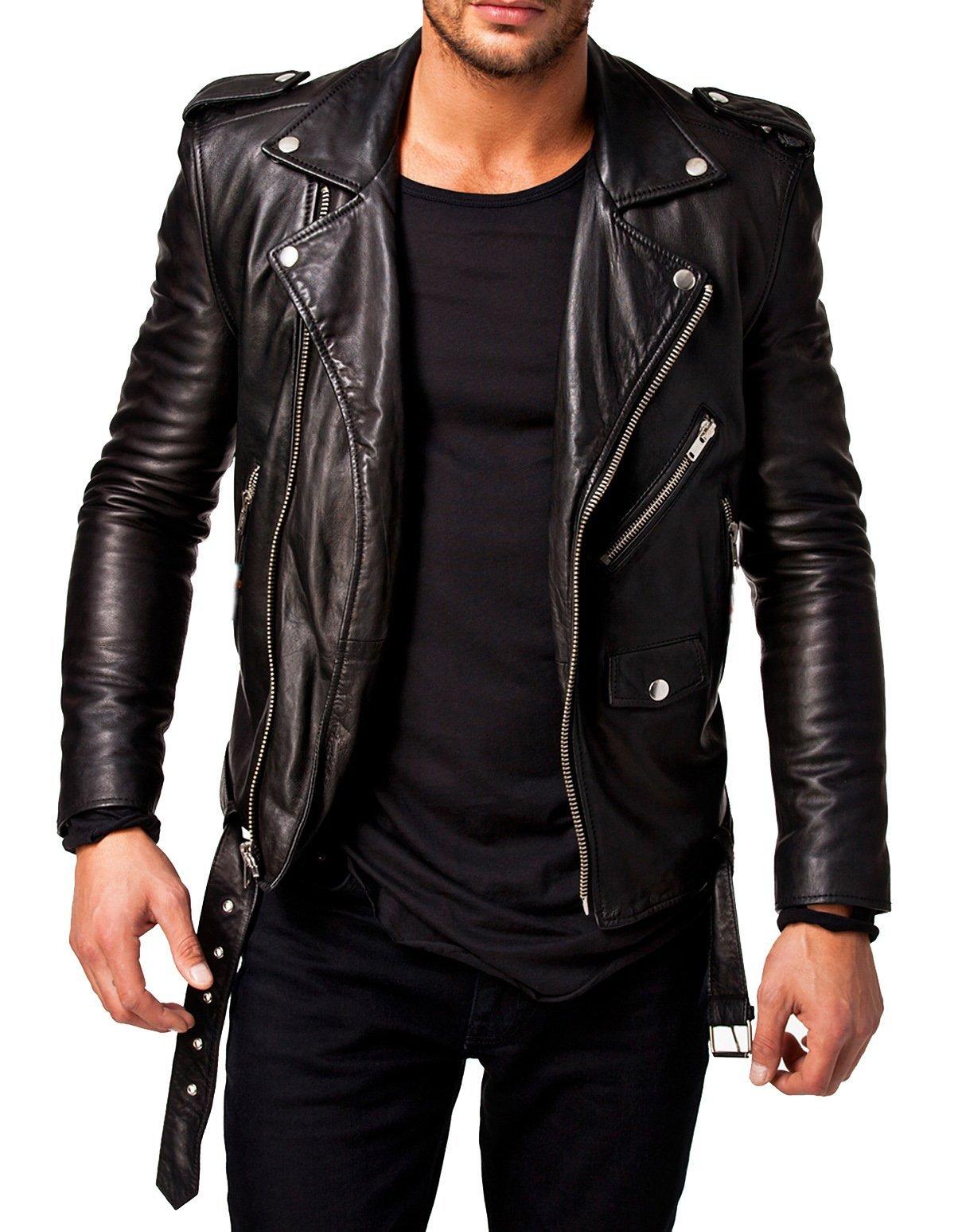 Best Seller Leather Men's Leather Jacket S Black by Best Seller Leather