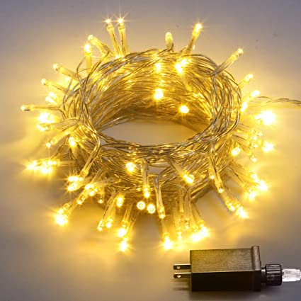 aluan string lights fairy christmas lights waterproof 8 mode adjustable plug in string lights for home