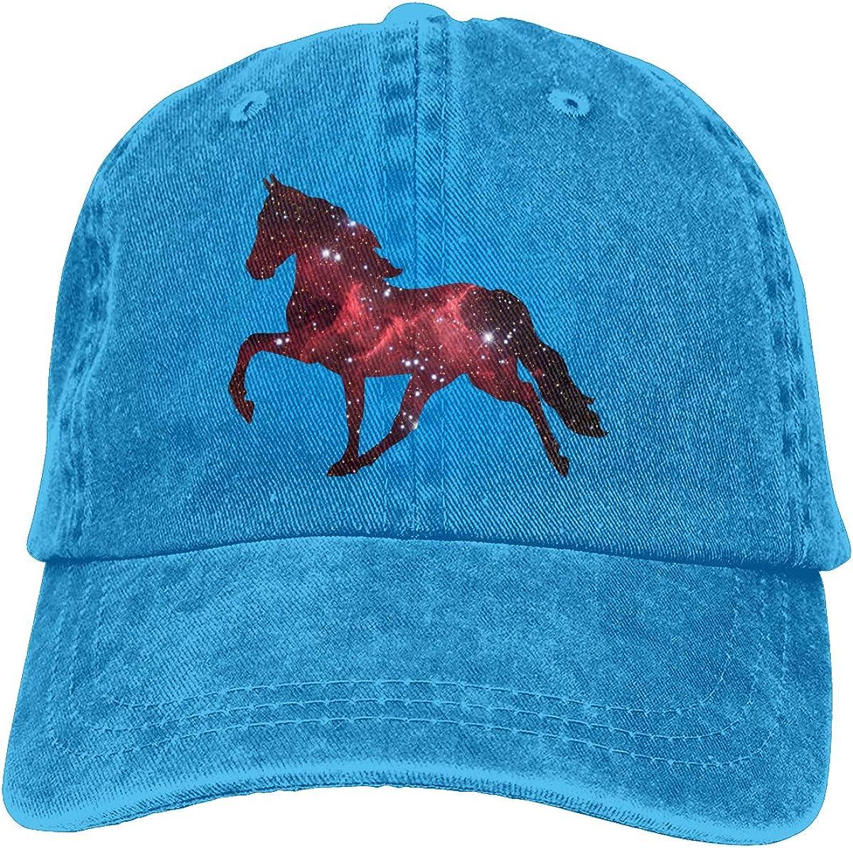 PMGM-C Walking Horse Adult Trendy Denim Casquette Adjustable Baseball Cap