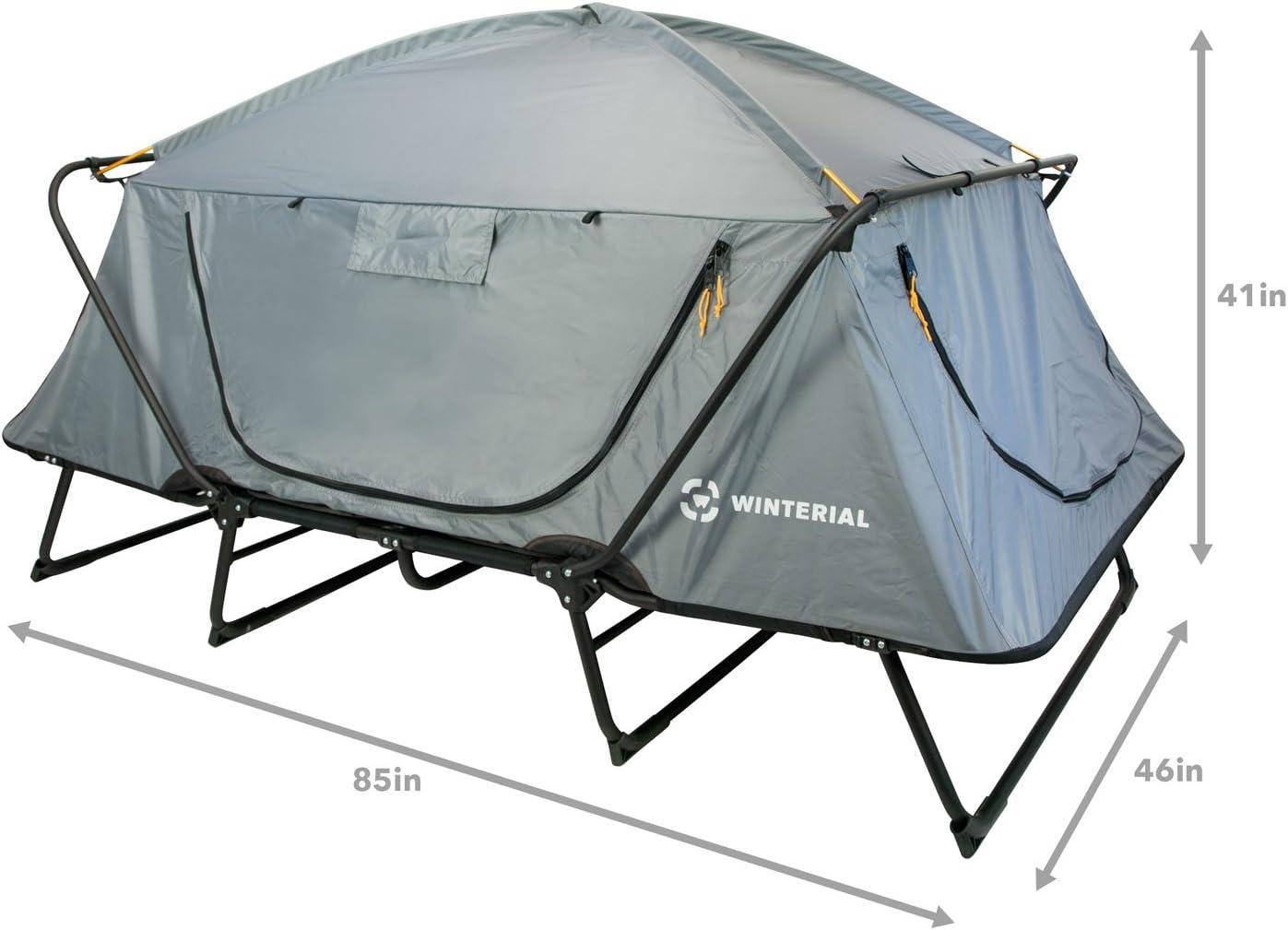 Winterial - Tienda de campaña Doble para Exteriores, Plataforma elevada para Dormir con Marco de Aluminio Plegable
