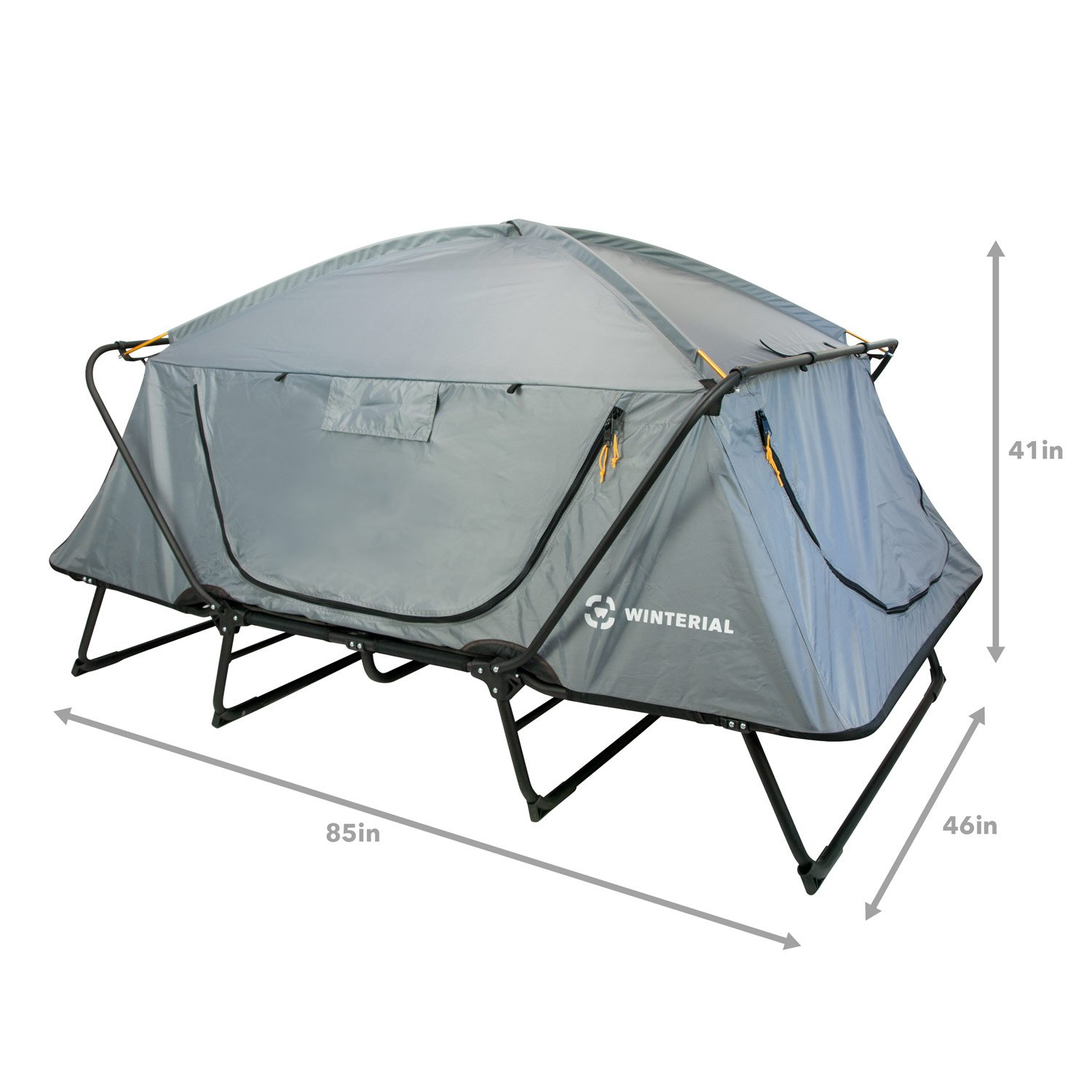 Winterial Double Outdoor Camping Tent Cot, Elevated Sleeping Platform with Collapsible Aluminum Frame by Winterial (Image #3)