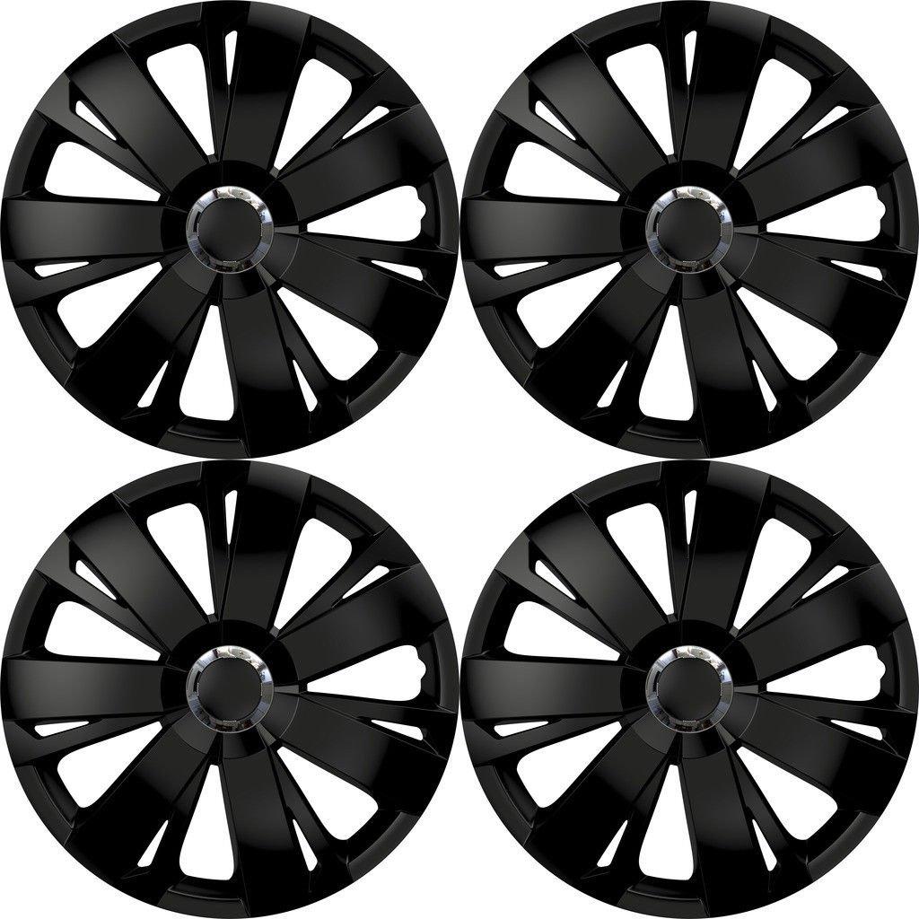 Rhino Automotive© 40,6cm Energy RC Noir de voiture de 4enjoliveurs Cover hub Caps X4Rw1706