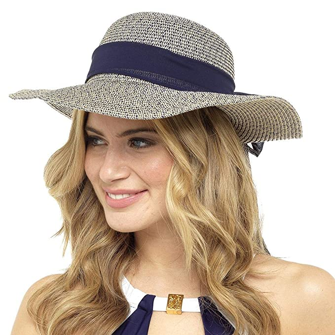 Ladies Undercover Floppy Foldable Wide Brim Straw Beach Holiday Sun Hats