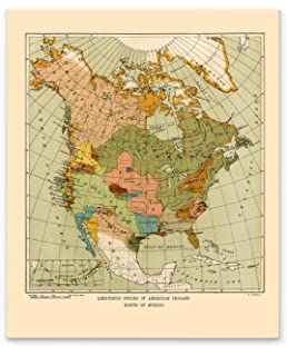 Amazon.com: Map of Indigenous Nations of North America ...