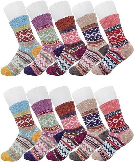 Mens Women Ladies Thermal Warm Winter Socks Plain Colors Black Chunk Thick Socks
