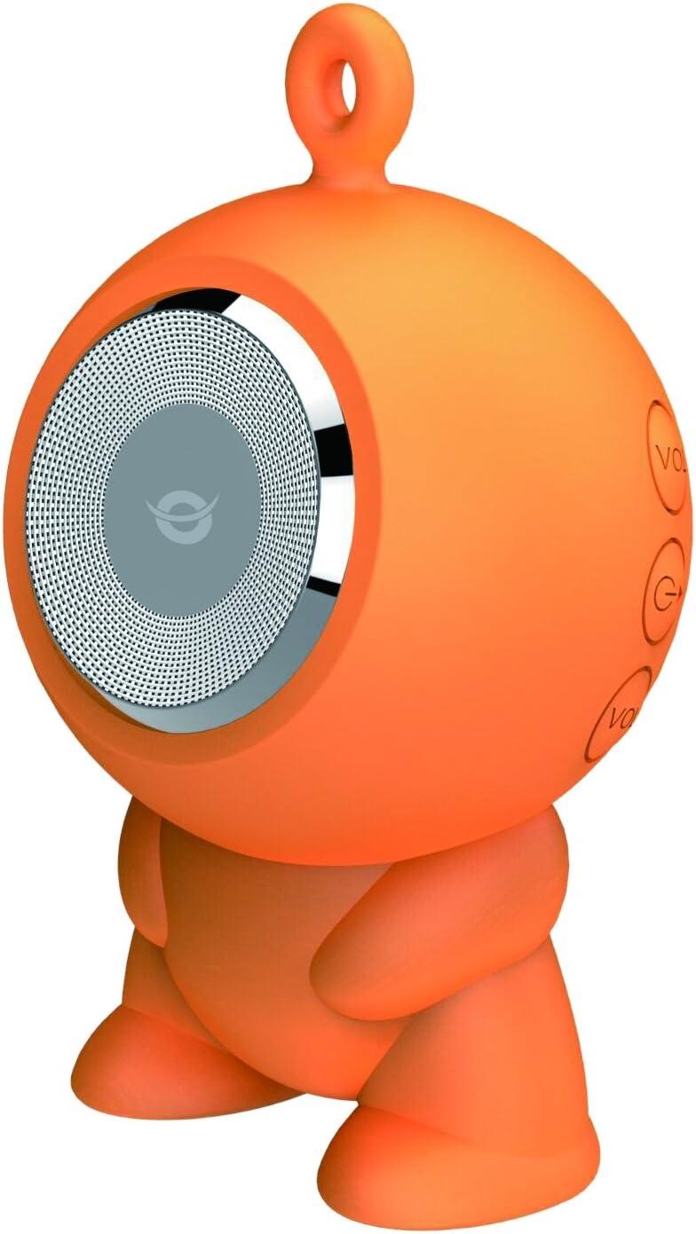 Conceptronic CSPKBTWPHFO 3 W Naranja - Altavoces portátiles (3 W, 180-16000 Hz, 1%, Inalámbrico, MicroUSB, Naranja)