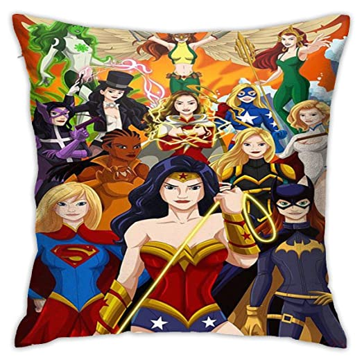 DailiH Wonder Woman, Supergirl, Batgirl, Vixen Throw Pillow ...