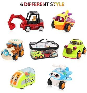 BBLIKE Coches de Juguetes, Camiones Juguetes Coches Juguete para Niños, Un Total 6 Coches