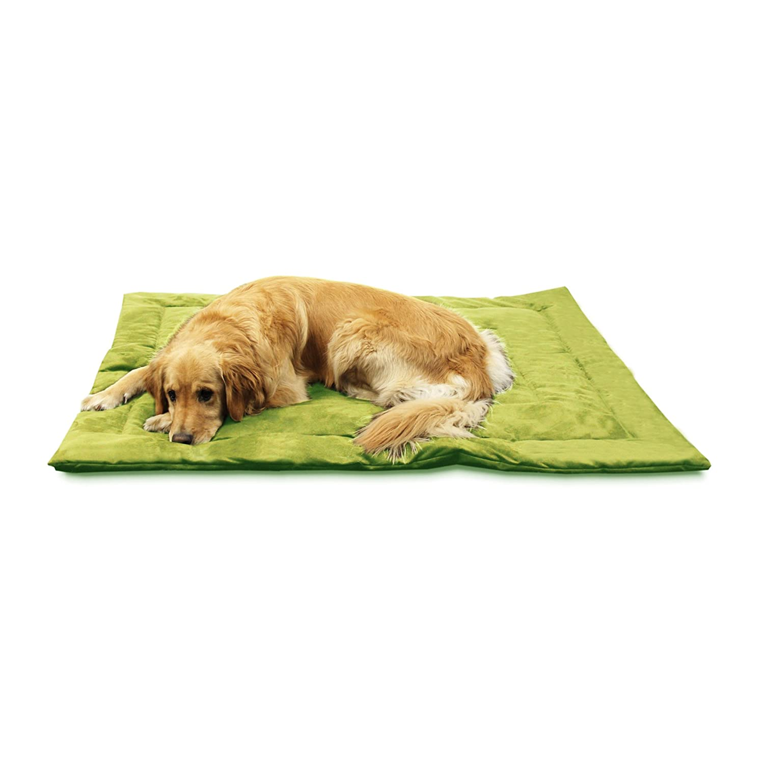 Kiwi Green Best Friends by Sheri Nap Mat Suede Pet Bed, 27-by-36-inches, Medium, Kiwi Green