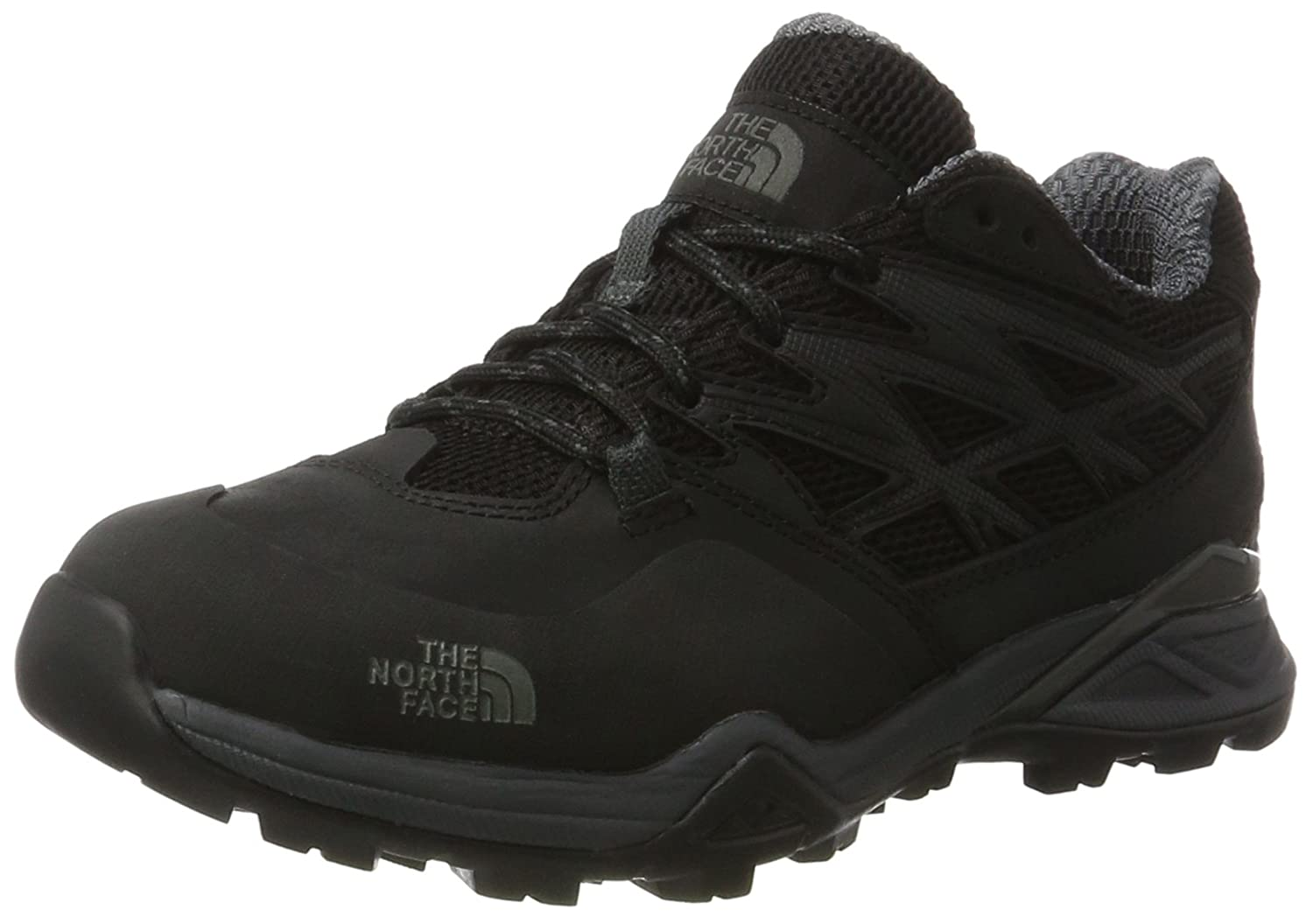 THE NORTH FACE Damen Hedgehog Hike Gore-tex Trekking-& Wanderhalbschuhe, Dark Gull grau Melon rot, 37 EU
