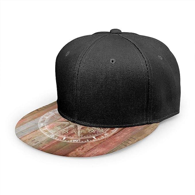 Gorra de béisbol de Madera rústica con brújula de Estilo Vintage ...
