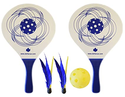 Pickleball Paddle Bundle (Set Includes 2 Paddles, 2 Shuttlecock Balls, 1 Balls, 1 Carrying Bag)